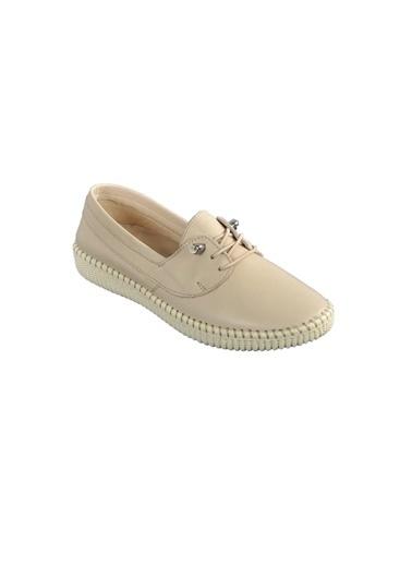 Voyager 7351 Hakiki Deri Bej Kadın Günlük Ayakkabı Bej